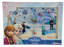 Kids Disney Frozen Pin Puzzle Wooden Jigsaw Toddler Educational Toy Elsa Anna