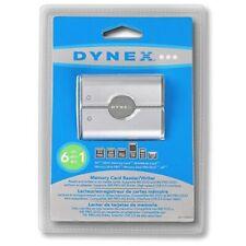 Dynex DX-CR6N1 External USB 6-in-1 Multi Memory Card Reader/Writer Open Box