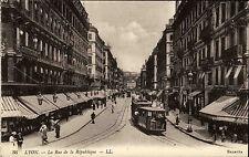 Lyon Frankreich Rhône-Alpes ~1910 Rue de la République Straßenbahn Tram Selecta