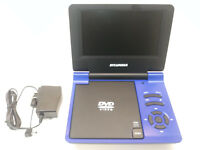"""Sylvania 7"""" Portable DVD Player in Blue SDVD7015 with AC Adapter Works READ"""