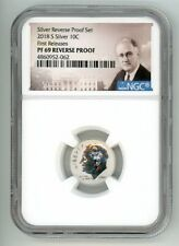2018 S SILVER ROOSEVELT DIME 10C REVERSE PROOF NGC PF 69 FR 4860952-062