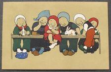 Flatscher MM Vienne Cute Children Baby Bottle Doll Bunny Rabbit Easter postcard