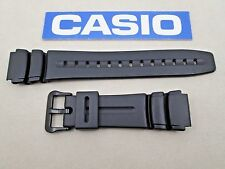 Genuine Casio AW61 AD-300 DW-290 DW-290G DW-290MV MD-309 black resin watch band