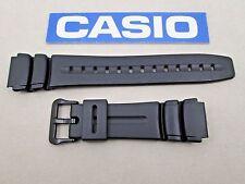 Genuine Casio AW61 AD-300 DW-290 DW-290G DW-290MV MD-309 black resin watch band