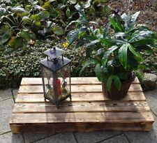 Geflammte Holzpalette Palettenmöbel Garten Lounge Terrasse 120x60x14cm