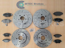 Ford Mondeo TDci130 00-07 Front Rear Drilled Grooved Brake Discs Pads