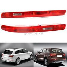 Pair Reflective Rear Bumper Red Fog Lamp Housing Lens For Audi Q7 2006-2015