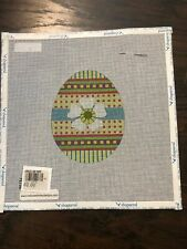 New ListingMelissa Shirley Hand Painted Easter egg Needlepoint Canvas 18 count