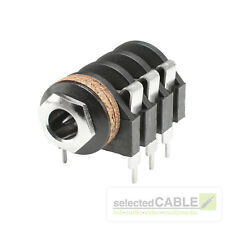 HICON 6,3mm Klinke 3-pol Einbaubuchse horizontal Löttechnik Audio | HI-J63S-PHM