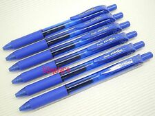 6 x Pentel EnerGel Ener Gel BL107 0.7mm Metal Tip Rollerball Gel Ink Pen, Blue