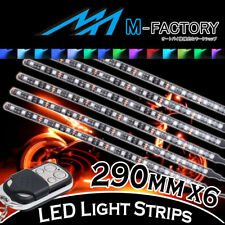 RGB Light Strips Motorcycle Fairing Body Frame 290mm 6Pcs Fit Honda Motorcycles