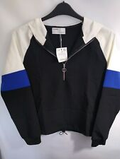 Pull And Bear hooded Blouson zip neck Top Size M bnwt mx6
