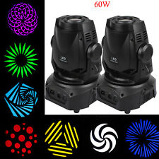 2x 60W LED Moving Head DJ Spot Licht DMX Bühne Scheibe Party Lighting Equipment