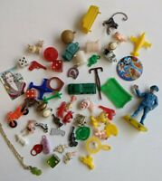 Vintage Miniature Charms Big Mixed Lot Novelty Cracker Jack Gum Machine Toys
