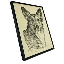 Pembroke Welsh Corgi Dog Drawing Print by G. Marlo Allen Artist Signed Numbered