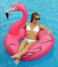 Inflatable Giant Pink Flamingo Pool Float Raft Swim Tube Kids Adults Water Ring