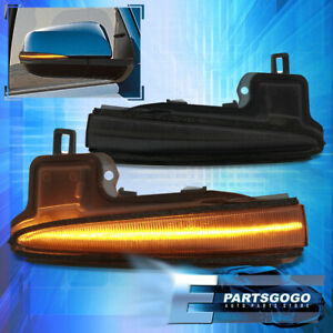 For 16-21 Toyota Tacoma Smoked Sequential LED Side Mirror Turn Signal Lights Set