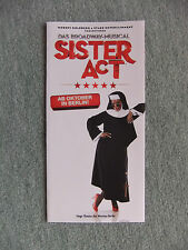 Flyer Musical  Sister Act, ab Oktober (2016) in Berlin, Theater des Westens
