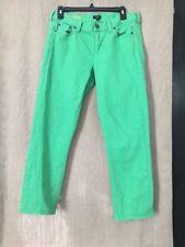 J. Crew Women's Matchstick Skinny Crop Jeans Stretch Kelly Green Size 6