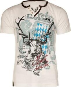 Trachten T-Shirt Fabian Bavaria weiß von Marjo für Volksfest Oktoberfest L-4XL