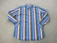 Peter Millar Button Up Shirt Adult Extra Large Blue Purple Long Sleeve Mens
