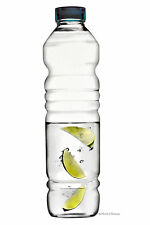 Ribbed Large 36.75 oz / 1086 ml Clear Glass Water Sports Fridge Bottle
