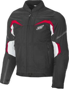 Fly Racing 2019 Street Butane Jacket Men's Black/White/Red XL 477-2041X Open Box