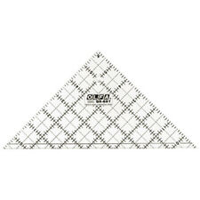 """*QR-6RT Olfa 6 1/2"""" Right Triangle Frosted Acrylic Ruler"""