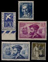 L'ANNÉE 1934 Complète, Neufs * = Cote 152 € / Lot Timbres France 294 à 298