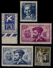 L'ANNÉE 1934 Complète, Neufs ** = Cote 434 € / Lot Timbres France 294 à 298