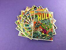 Incredible Hulk Lot: 10-Bk- #163, 185, 186, 188, 189, 190, 194, 198, 199, 200!