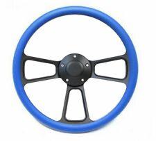 1932 & up Ford Truck w/GM Column Black & Blue Vinyl Steering Wheel & Horn Kit
