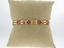 """Natural Red Rubies Solid 14k Yellow Gold 11GRAMS Bracelet 6.75"""""""