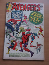 MARVEL: THE AVENGERS #6, 1ST BARON ZEMO AND MASTERS OF EVIL, KEY, 1964, VG+!!!