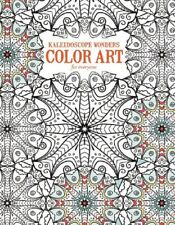 Adult Coloring Book KALEIDOSCOPE WONDERS Color Art ~ 24 Designs