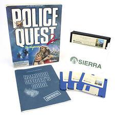 La policía Quest 2: la venganza para IBM PC MS-DOS/Tandy, CAJA GRANDE, 1988, en muy buena condición