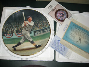 """Babe Ruth """"The Called Shot"""" Delphi Collectors Plate NY YANKEES COA #95G"""