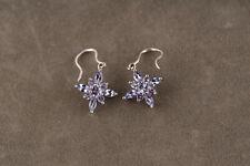 Vintage 9ct White Gold & Tanzanite Star Drop Earrings