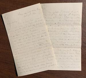 2nd Massachusetts Infantry Civil War Letter Lt. W.E Perkins