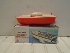 Tai Hing Toys Battery Operated Cabin Cruiser No. 371A - Vintage 1960s Hong Kong
