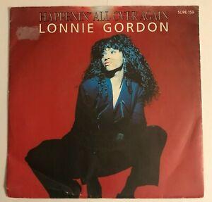 "Lonnie Gordon - ""Happenin' All Over Again""  7"" vinyl (1990) VG+ / SUPE159 / LOG8"
