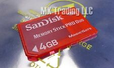 SanDisk Memory Stick PRO Duo 4GB MagicGate High Speed Memory Card Red