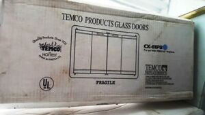 """Tempco Glass Fire Door Polished Brass Model: CX-61PB fit 42"""" fireplace"""
