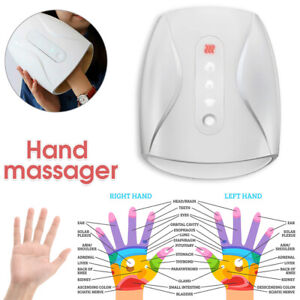 Electric Hand Palm Massager Heated Finger Apparatus Physiother Air Compression