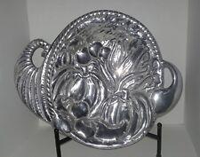 Cornucopia  Silver Color  Metal Bowl  Fall Decor