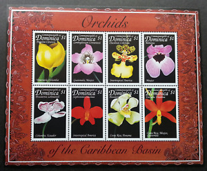 Dominica Orchids Of The Caribbean 1999 Flower Flora Plant (ms) MNH