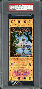 Desmond Howard Autographed 1997 Super Bowl Ticket Packers Auto 9 PSA 20009955