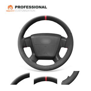 Custom Black Suede Steering Wheel Cover forJeepCompass GrandCherokee Wrangler