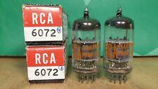 Closely Matched Pair of RCA 6072 (12AY7) NOS NIB 1966 Vacuum Tubes