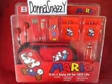 9IN1 NINTENDO DS LITE SUPER MARIO ACCESSORY KIT TRAVELLING NDS CHARGER EARPHONE